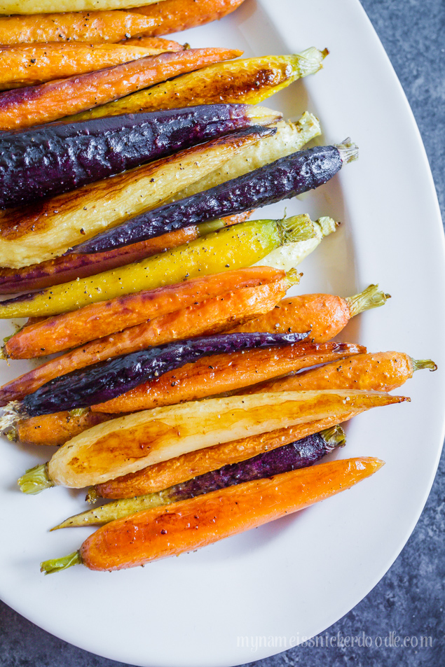 Roasted carrots mandys recipe box summer always brings some of the best produce and i wish i had a green thumb to grow more than herbs forumfinder Gallery