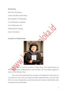 Contoh Resensi Novel Sang Pemimpi Karya Andrea Hierata Bahasa Inggris dan Terjemahannya