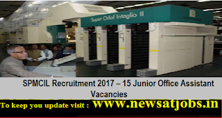 SPMCIL-Office-Assistant -Recruitment-2017