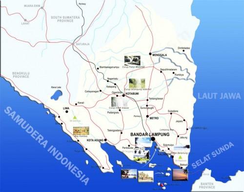 Gambar Peta lampung lengkap nama kabupaten dan kota