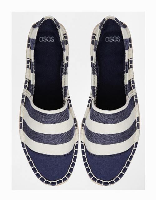 Without espadrille summer is never complete. asos striped Toe Cap Espadrilles