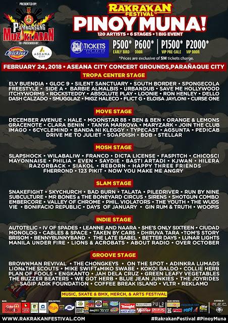 Rakrakan Festival 2018 Bands