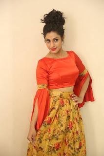 Actress Iraa Stills IN Floral Skirt at Vaadu Veedu O Kalpana Audio Launch  0004.jpg