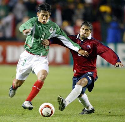 México y Chile en partido amistoso, 19 de febrero de 2004