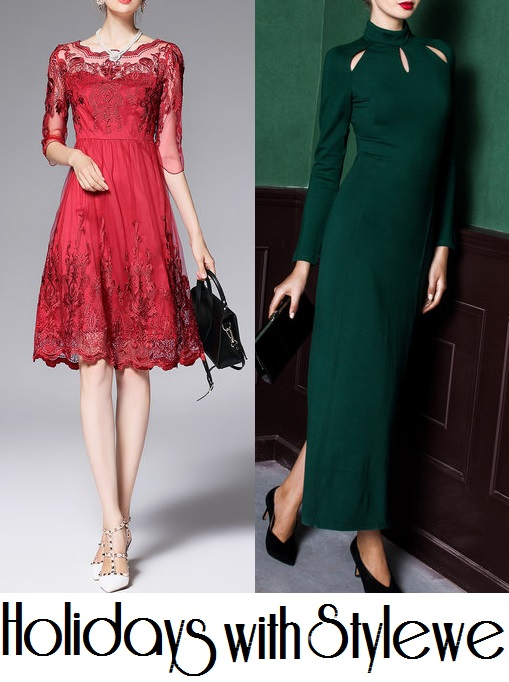 Stylewe And Just Fashion Now: The Flower Duet: Holiday Dresses From StyleWe