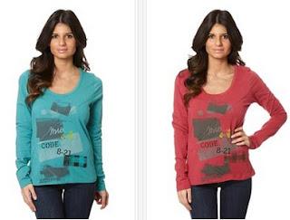 Camisetas en oferta colores azul pato o rosa