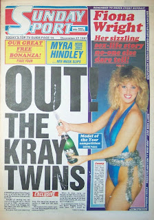 Vintage Sunday Sport newspaper front page from 27 Dec 87