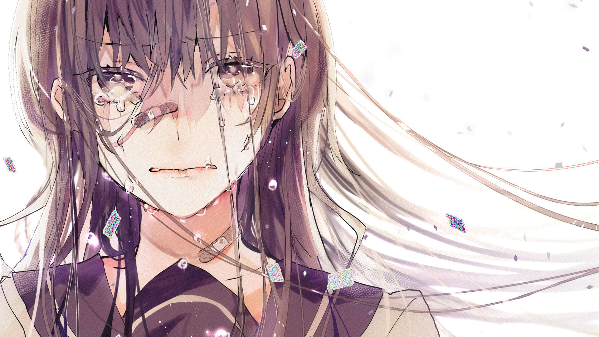 Anime girl sedih wallpaper