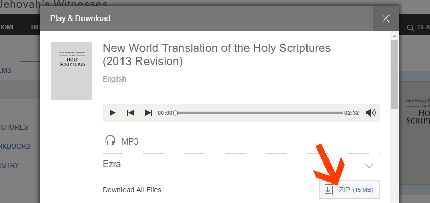 How to Download Audio Bible in MP3 (New World Translation of