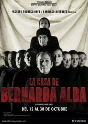 La Casa de Bernarda Alba de Lorca, en el Fernán Gómez en octubre