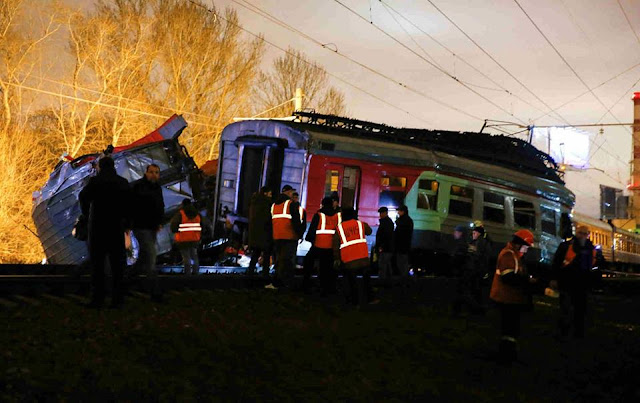 2 Russian Railways trains crashed in western Moscow