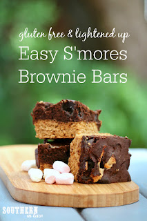 Easy Gluten Free Smores Brownie Bar Recipe