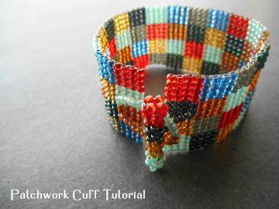 square stitch bracelet beadwork tutorial
