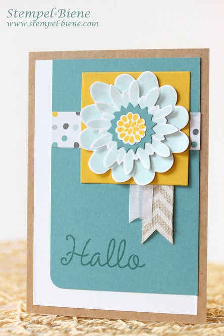 Stampin'  Up Flower Patch, Stampin' Up Hallihallo, Stampin Up Grußkarte, Match the Sketch, Stampin Up Workshop, Stampin Up Winterkatalog