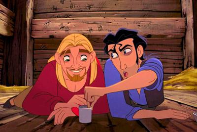 Tulio e Miguel da animação caminho para El Dorado