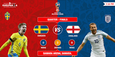 SWEDEN VS ENGLAND LIVE STREAM WORLD CUP 7 JULY 2018