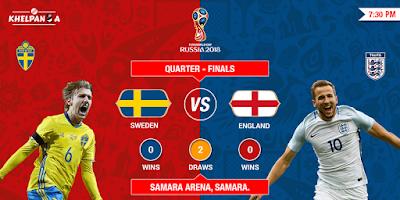 SWEDEN VS ENGLAND LIVE STREAM WORLD CUP 7 JULY 2018