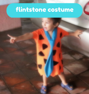 Practical Mom Halloween: DIY Flintstone Costume