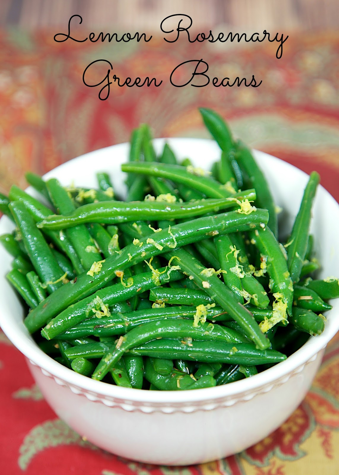 Lemon Rosemary Green Beans