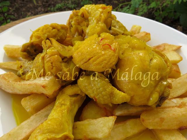 pollo en dorao receta Alfarnate Málaga