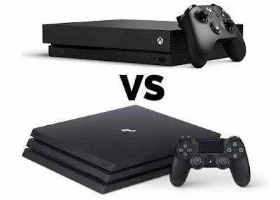 The Xbox One X chart was compared to the PS4 Pro