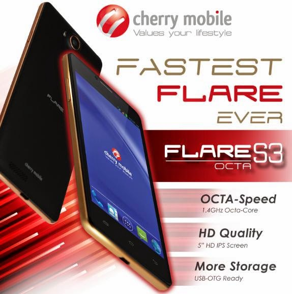 Cherry Mobile Flare S3 Octa Announced, 5-inch HD Octa Core Phablet For Php4,499
