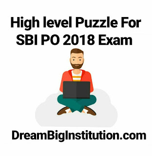 High Level Puzzle For SBI PO Exam