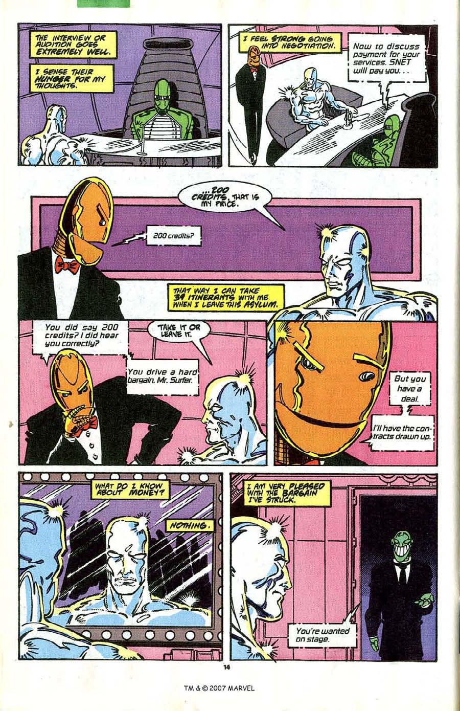 Read online Silver Surfer (1987) comic -  Issue #41 - 16