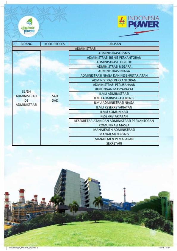 PT.Indonesia Power - Rekrutmen Agustus 2016