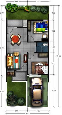 Gambar Desain Rumah Type 45  Desain Denah Rumah Terbaru  Denah Rumah Minimalis  Desain Rumah