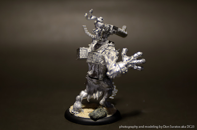 WIP - Dire Troll Blitzer assembled and based photo