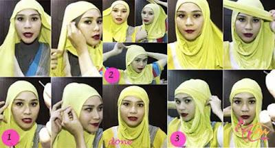 Gambar Tutorial Jilbab Segi Empat