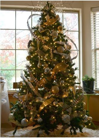 A mi manera decoraci n de rbol navide o precioso - Como decorar un arbol de navidad ...