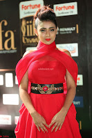 Apoorva in a Stunning Tight Leg Split Sleeveless Red Gown at IIFA Utsavam Awards 41.JPG