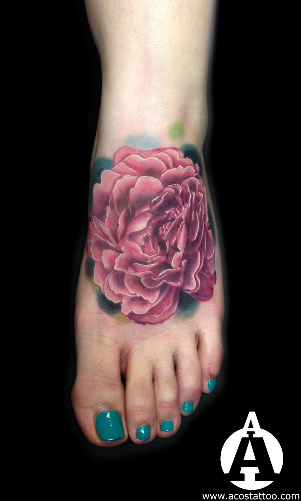 Peony flower I did on a nice client  Was pretty fun to do  Thanks for    Realistic Peony Tattoo