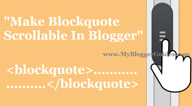 Make Scrollable Blockquote, Customize Blockquote