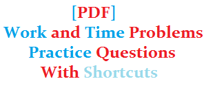 time and work problems with shortcuts pdf download