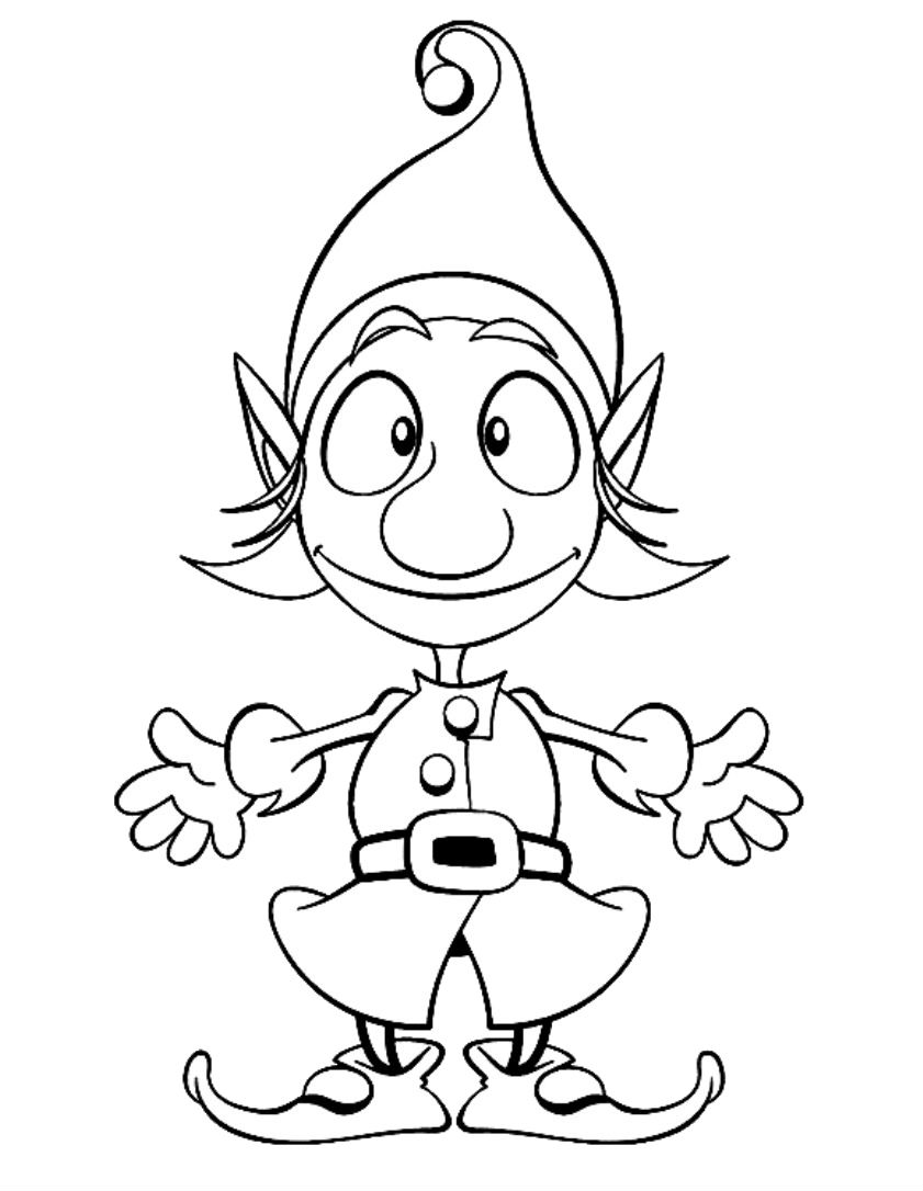 Coloring Page Kids For Fantasy Image: Photos Elves ...