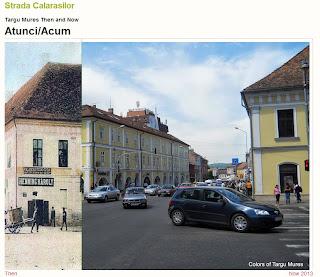 Strada Calarasilor, Tirgu-Mures - Then and Now
