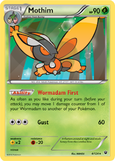 Mothim Fates Collide Pokemon Card