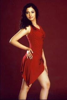 Tamannah Hot Leggy Pics In Red Dress