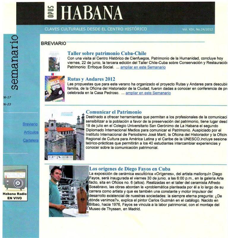 Diego Fayos - Exposición Orígenes. Opus Habana.