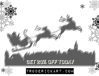 20% off coupon code giftnow troderickart.com