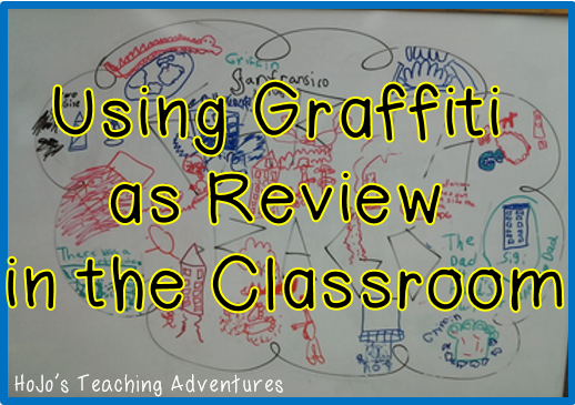 Using graffiti walls for review in the classroom. A unique approach to review that works in nearly ANY classroom!