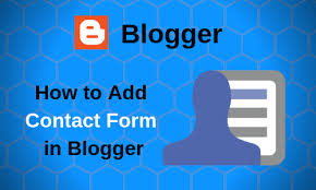 How to add Contact form Page in Blogger