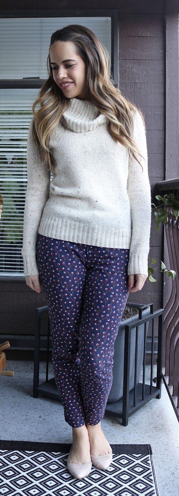 Jules in Flats - Jacob Turtleneck, Old Navy Pixie Pants