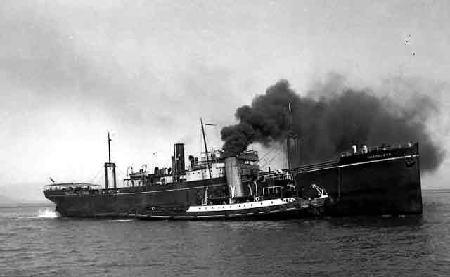 SS Sagitta, sunk on 9 November 1941 worldwartwo.filminspector.com