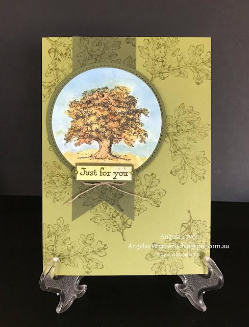 SU Lovely As A Tree card by Angela Lovel, AngelasPaperArts.blogspot.com.au