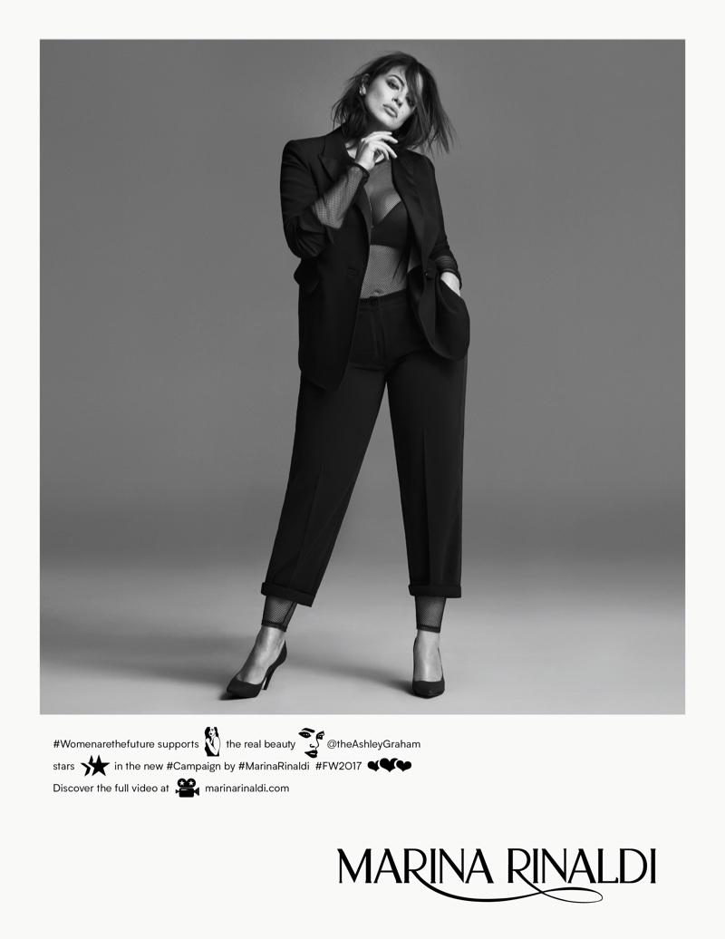 Marina Rinaldi Fall/Winter 2017 Campaign featuring Ashley Graham