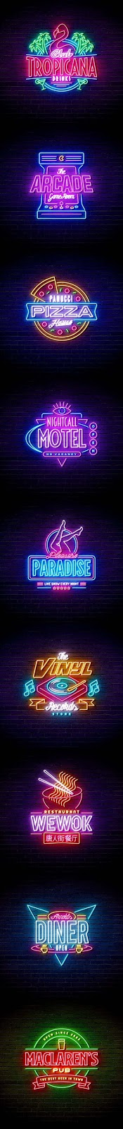 09 Neon Sign Effects PSD